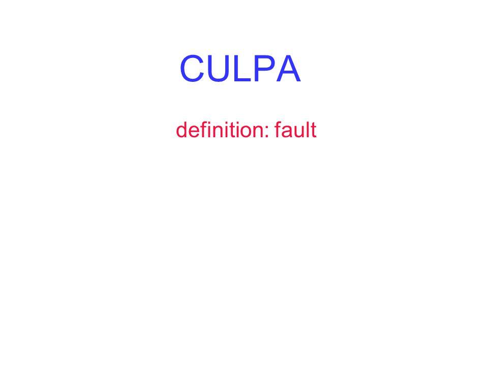 CULPA definition: fault