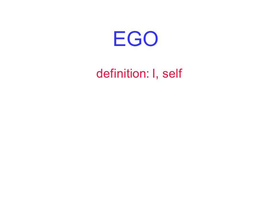 EGO definition: I, self