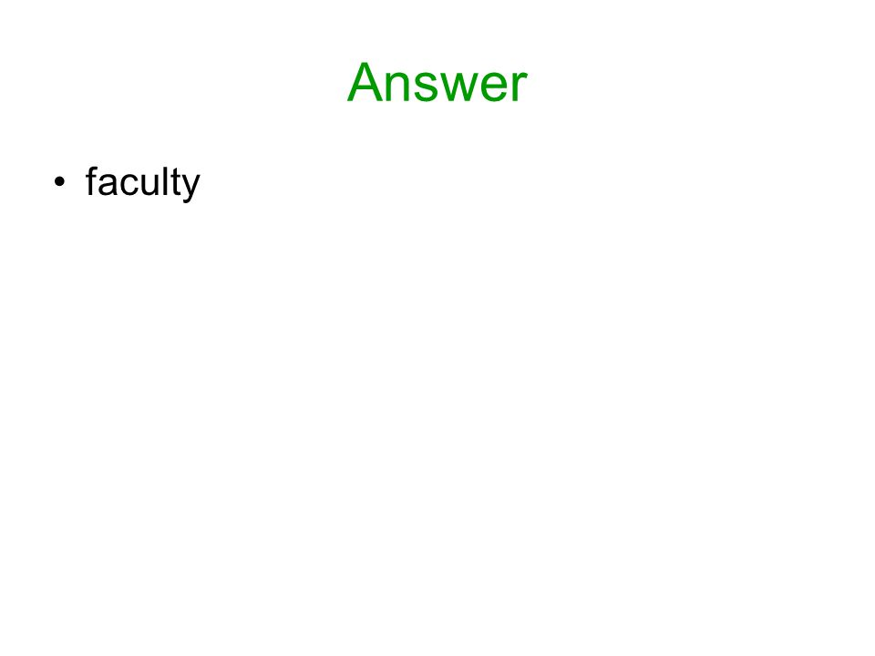 Answer faculty