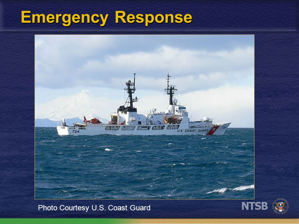 Emergency Response Photo Courtesy U.S. Coast Guard