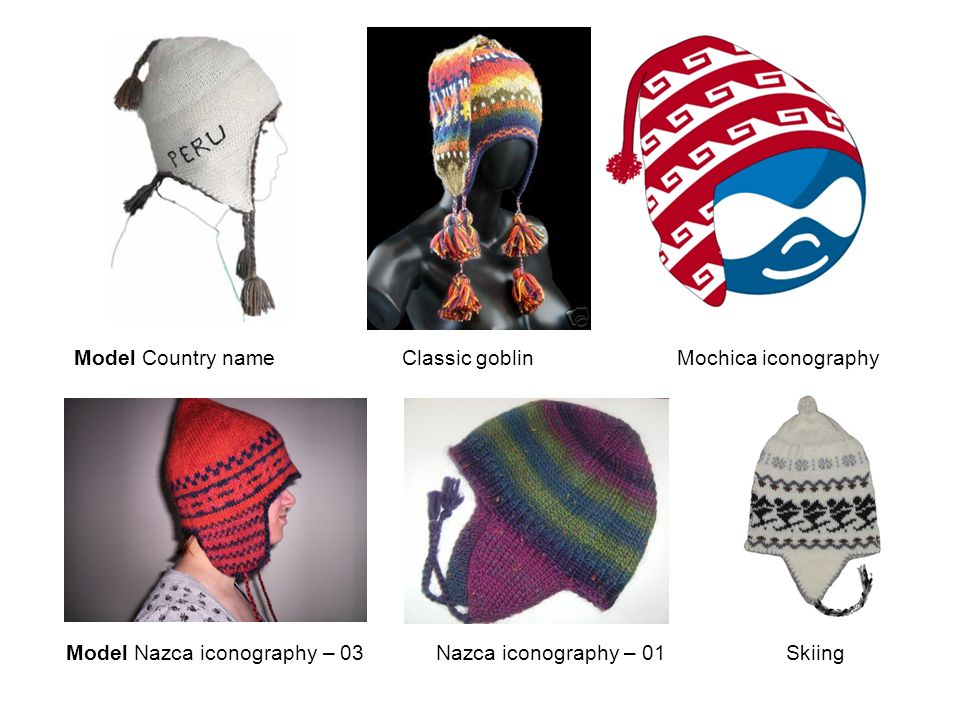 Model Country name Classic goblin Mochica iconography Model Nazca iconography – 03 Nazca iconography – 01 Skiing