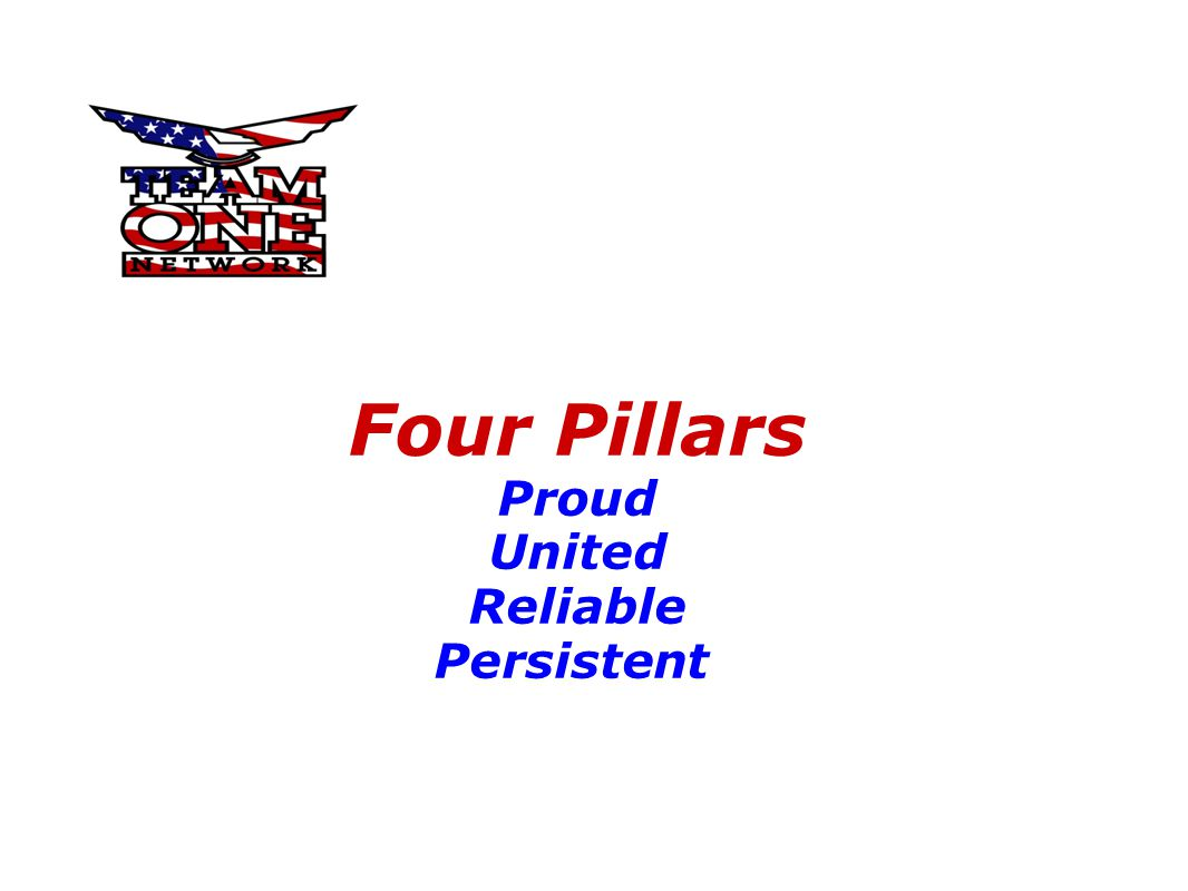 Four Pillars Proud United Reliable Persistent