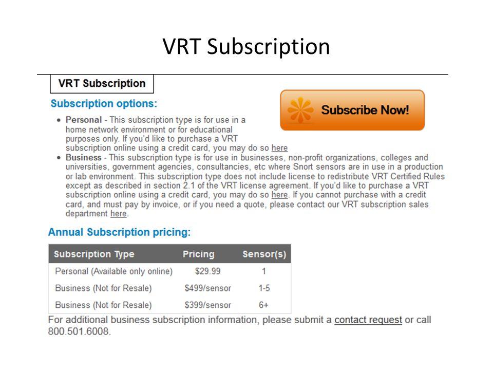 VRT Subscription