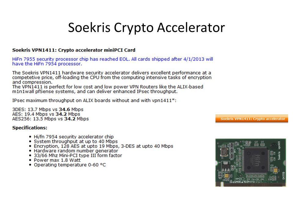 Soekris Crypto Accelerator