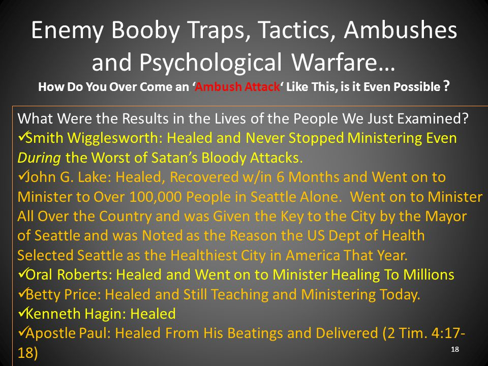 Enemy Booby Traps, Tactics, Ambushes and Psychological Warfare… 18 How Do You Over Come an 'Ambush Attack' Like This, is it Even Possible ? What Were
