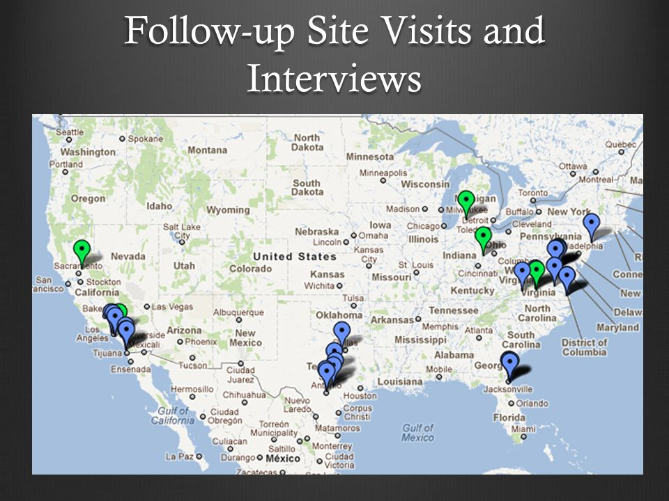 Follow-up Site Visits and Interviews