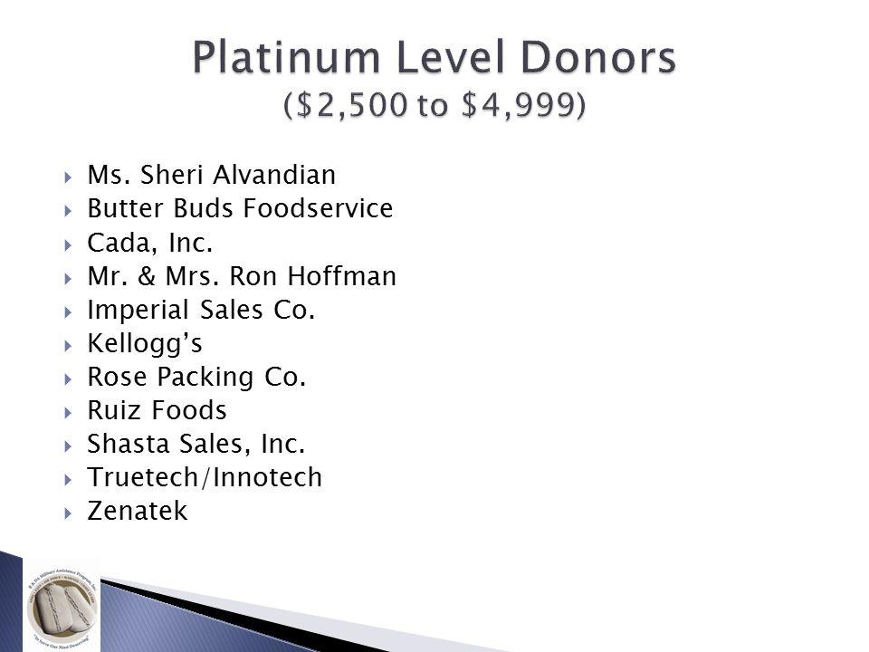  Ms. Sheri Alvandian  Butter Buds Foodservice  Cada, Inc.