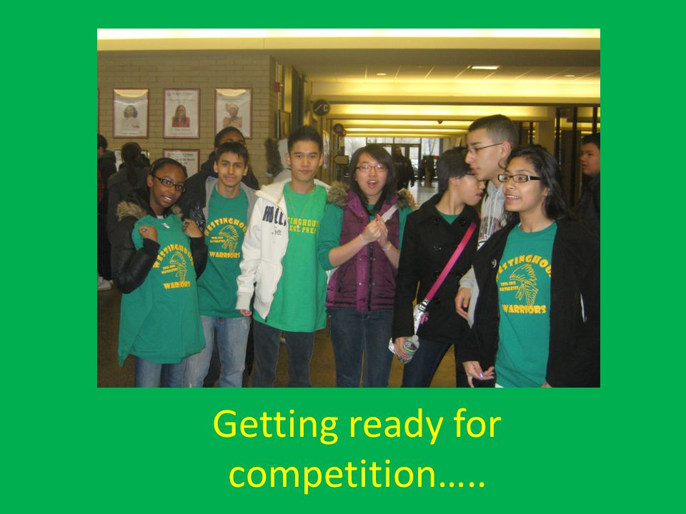 Getting ready for competition…..