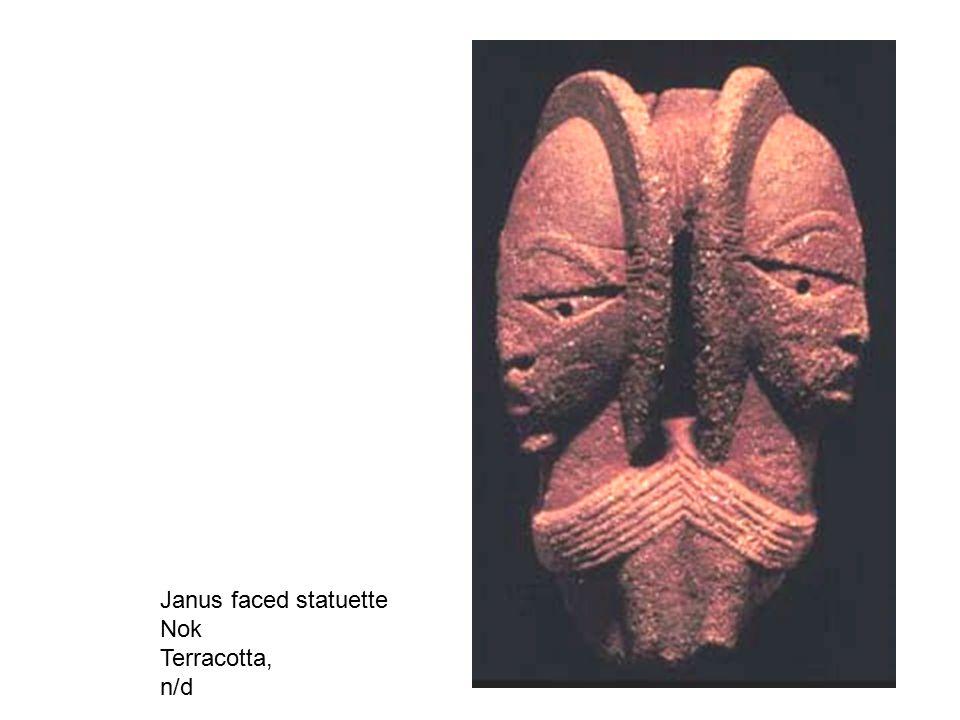 Composite of man-leopard bust Nok, Terracotta, 2250 BP