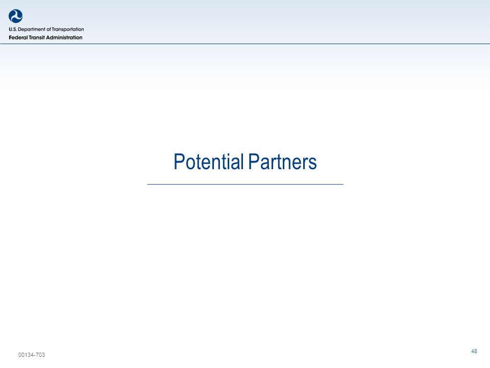 00134-703 Potential Partners 48