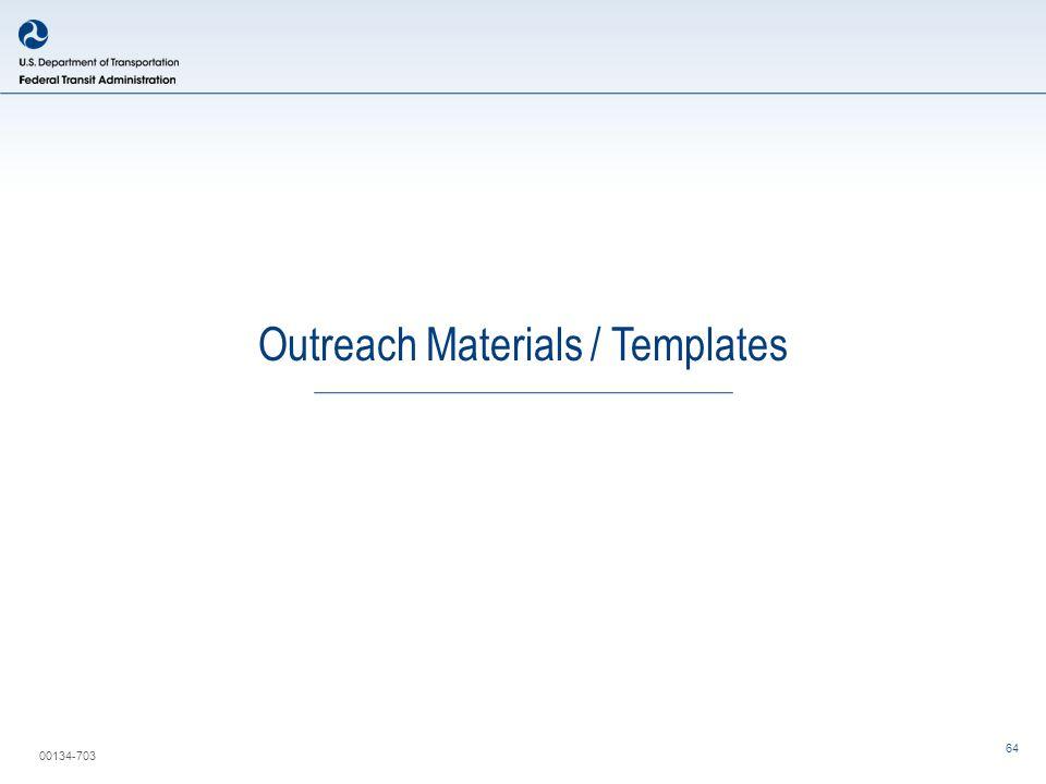00134-703 Outreach Materials / Templates 64