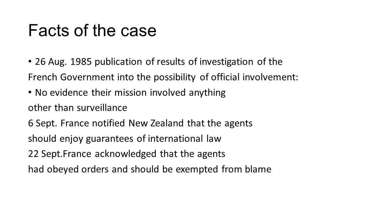 Facts of the case 6 Sept.