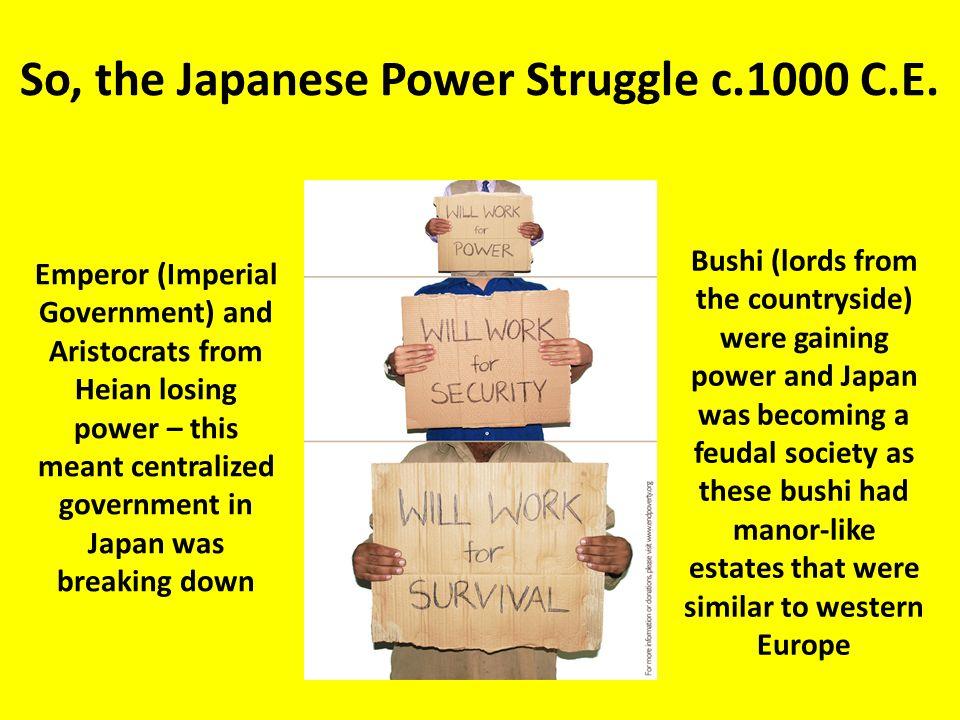 So, the Japanese Power Struggle c.1000 C.E.
