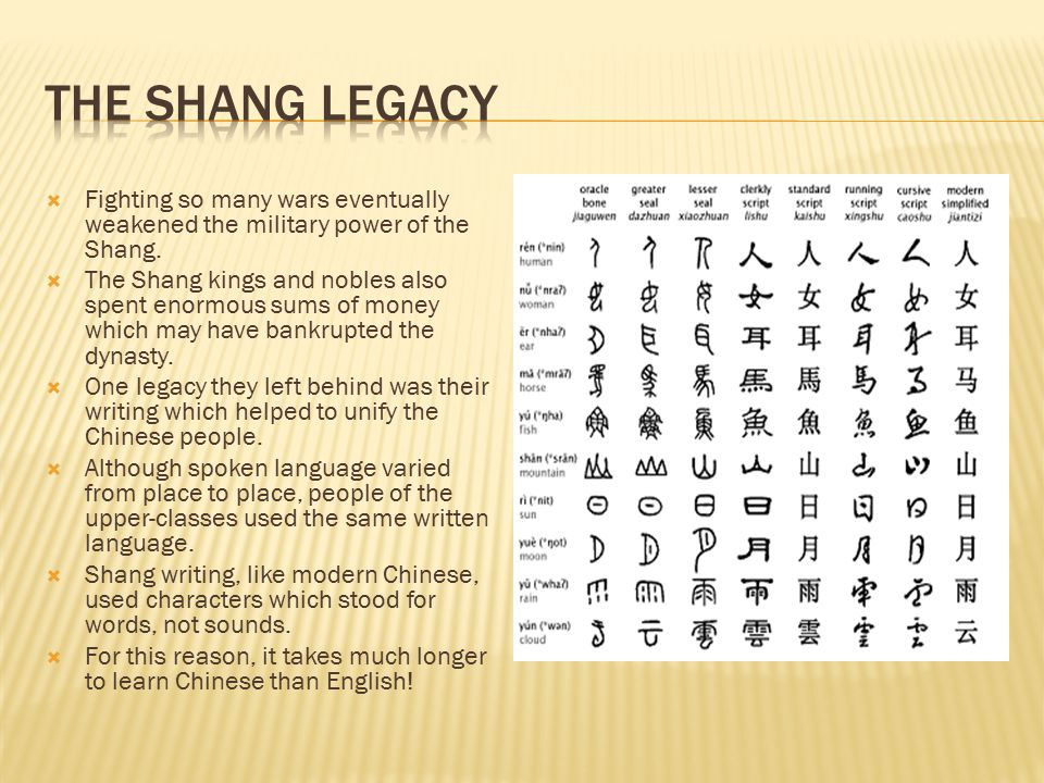  Fighting so many wars eventually weakened the military power of the Shang.