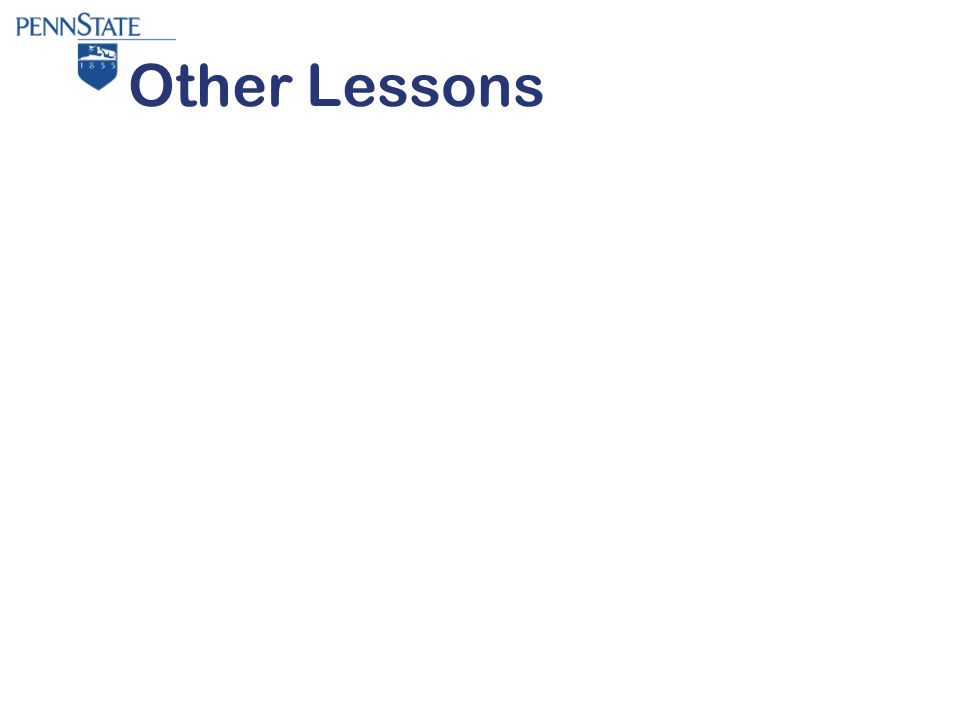 Other Lessons