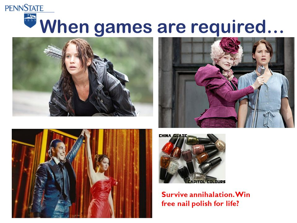 When games are required… Survive annihalation. Win free nail polish for life?