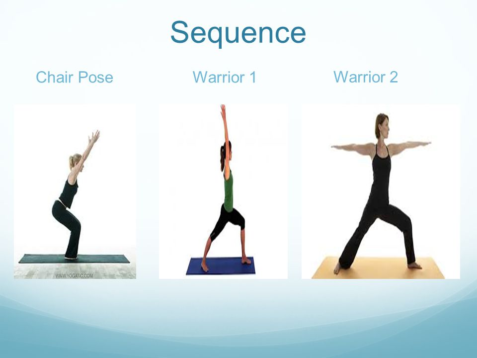 Sequence Chair Pose Warrior 1 Warrior 2
