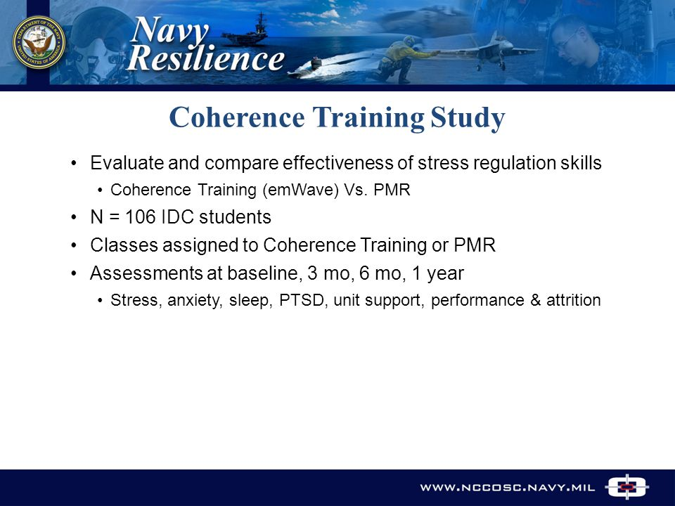 Evaluate and compare effectiveness of stress regulation skills Coherence Training (emWave) Vs.