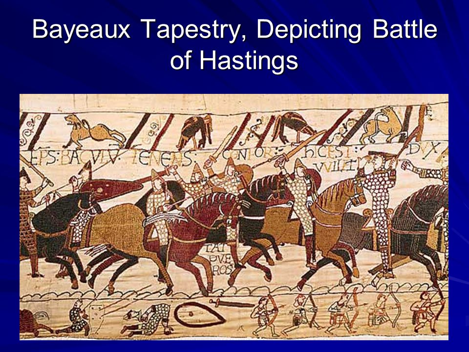 Bayeaux Tapestry, Depicting Battle of Hastings