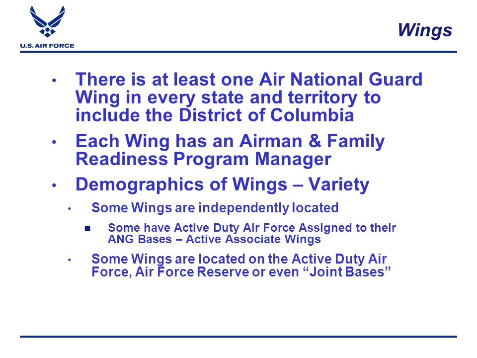 Airman/Family Programs CORE COMPETENCIES  Readiness: personal and family  Information/Referral  Deployment Cycle Support  Life Skills Education and Consultation (Budget/Financial Wellness/Resource Management)  Volunteer communication, direction and guidance (Key Spouse/Volunteer)  Community outreach and cooperative interface i.e.
