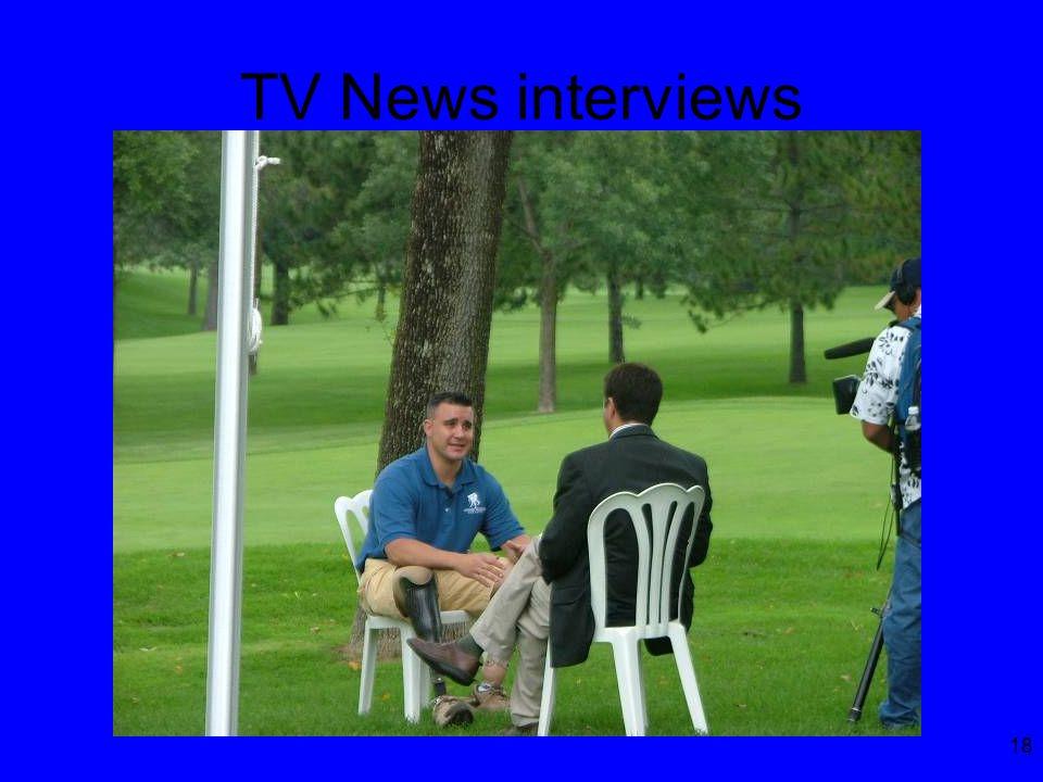18 TV News interviews