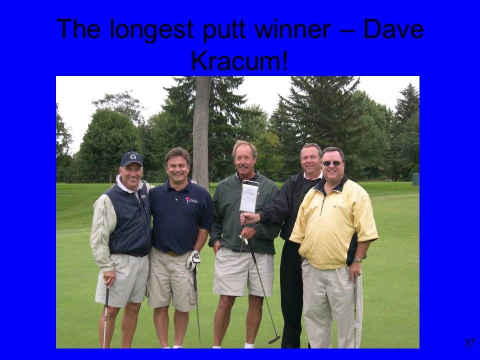 37 The longest putt winner – Dave Kracum!