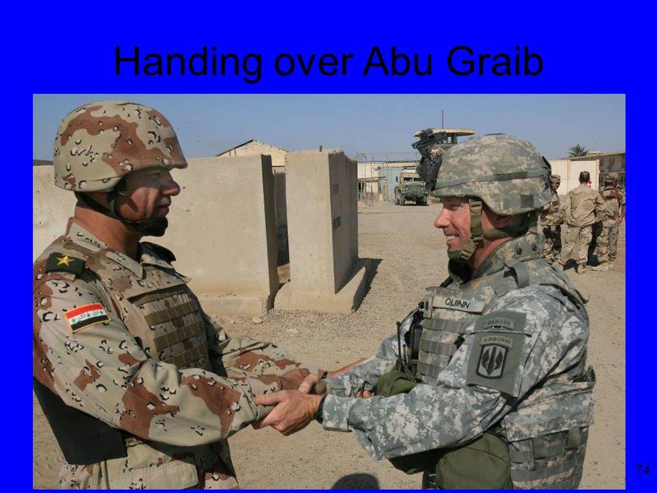 74 Handing over Abu Graib