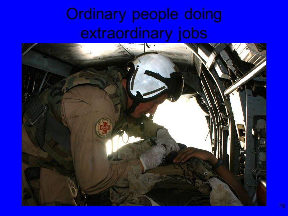 78 Ordinary people doing extraordinary jobs