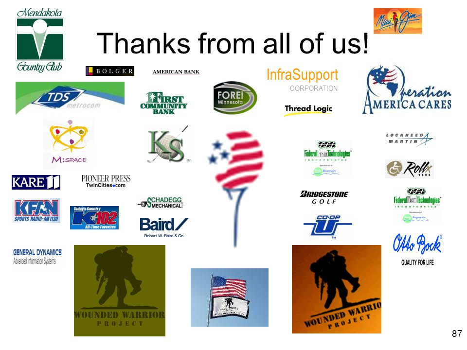 87 Thanks from all of us! InfraSupport CORPORATION