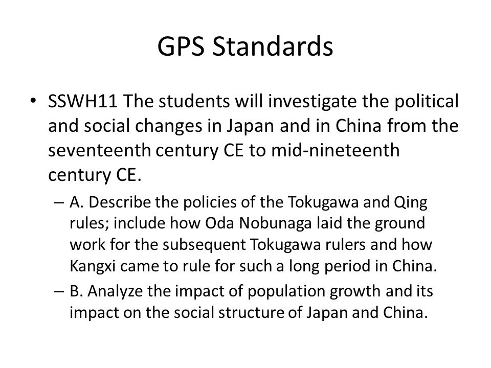 Essential Question How did the social structure in Japan differ from the social structure in China.