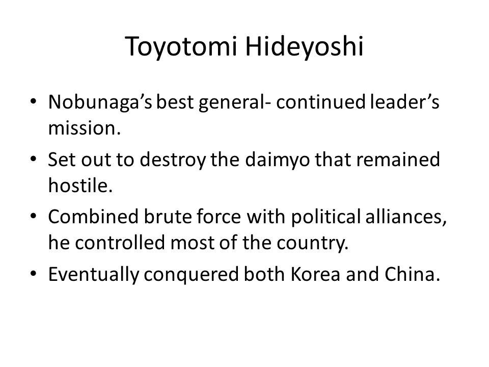 Tokugawa Ieyasu Completed the unification of Japan.