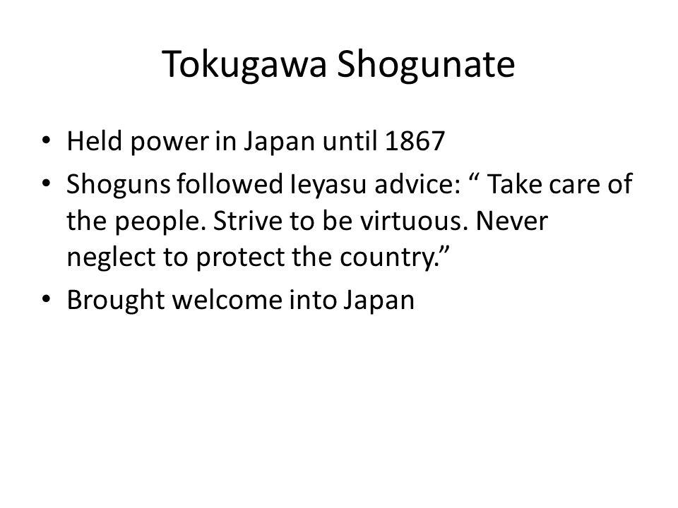 Life in Tokugawa Japan Stability, prosperity, and isolation under Tokugawa shoguns.