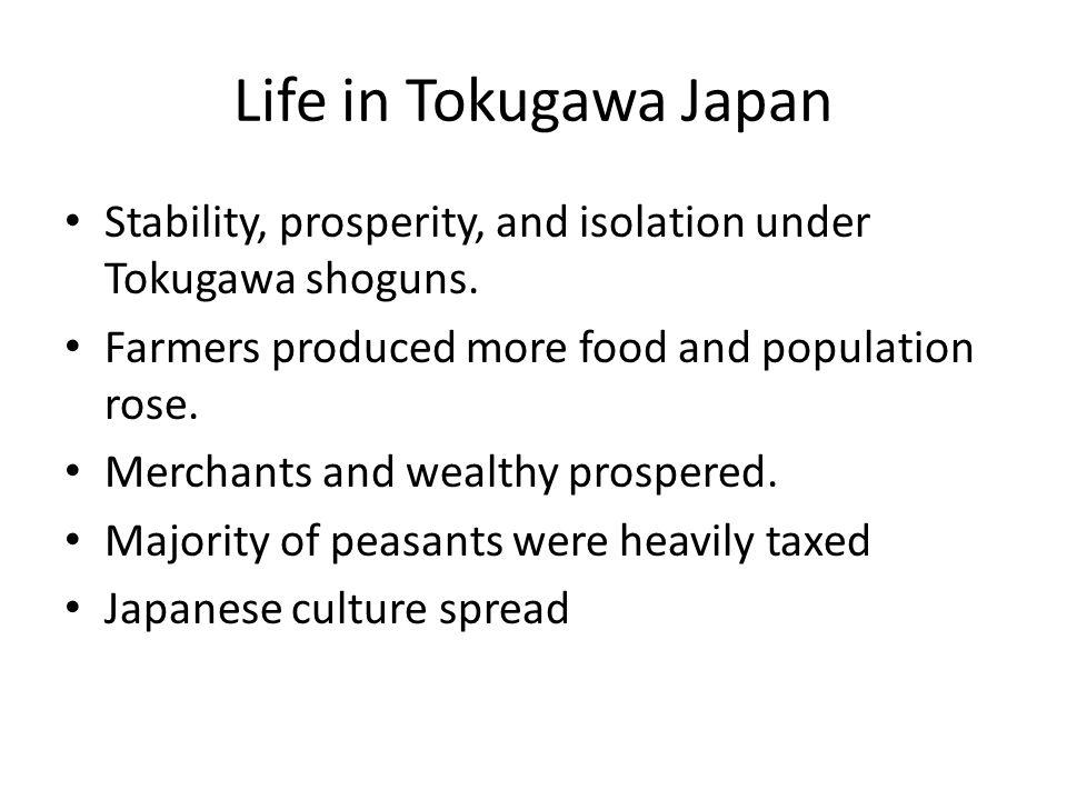 Society in Tokugawa Japan Emperor had the top rank(figurehead).
