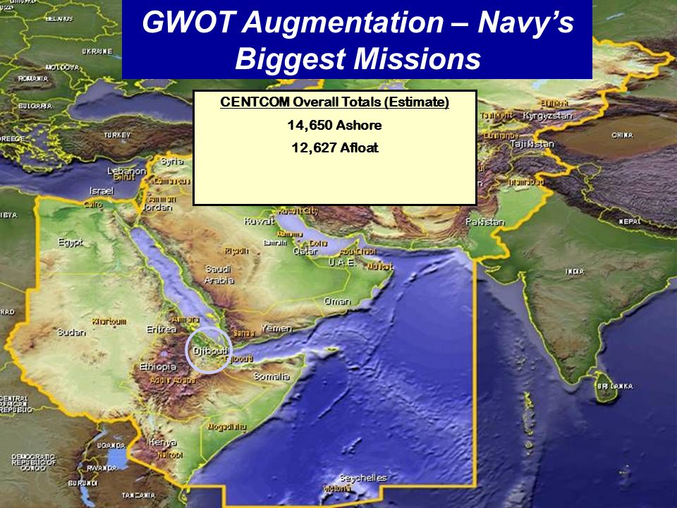 UNCLASSIFIED ECRC Supporting Sailors and their families ECRC Roadshow GWOT Augmentation – Navy's Biggest Missions CENTCOM Overall Totals (Estimate) 14