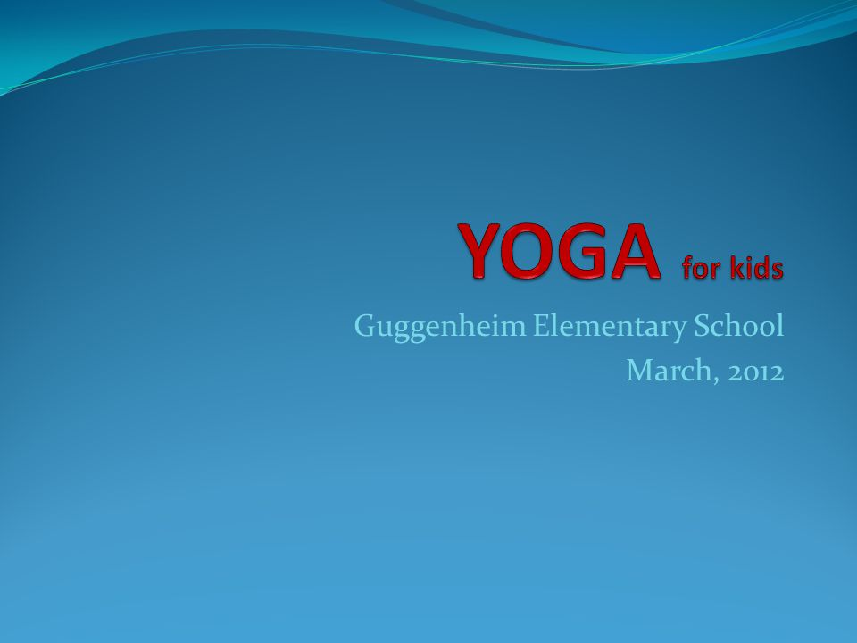 Guggenheim Elementary School March, 2012