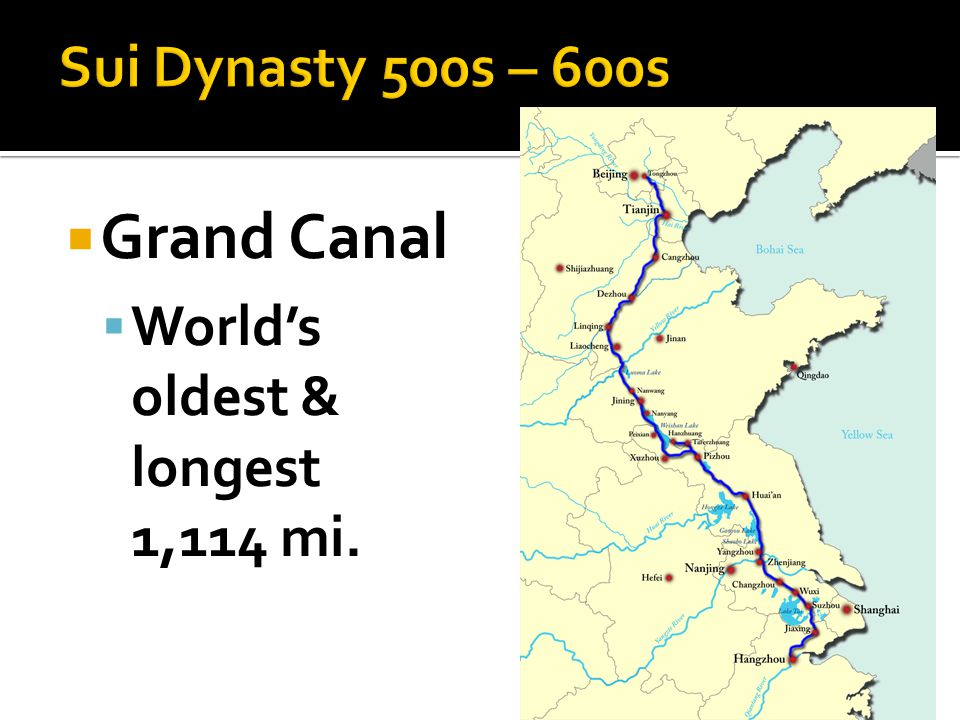  Grand Canal  World's oldest & longest 1,114 mi.