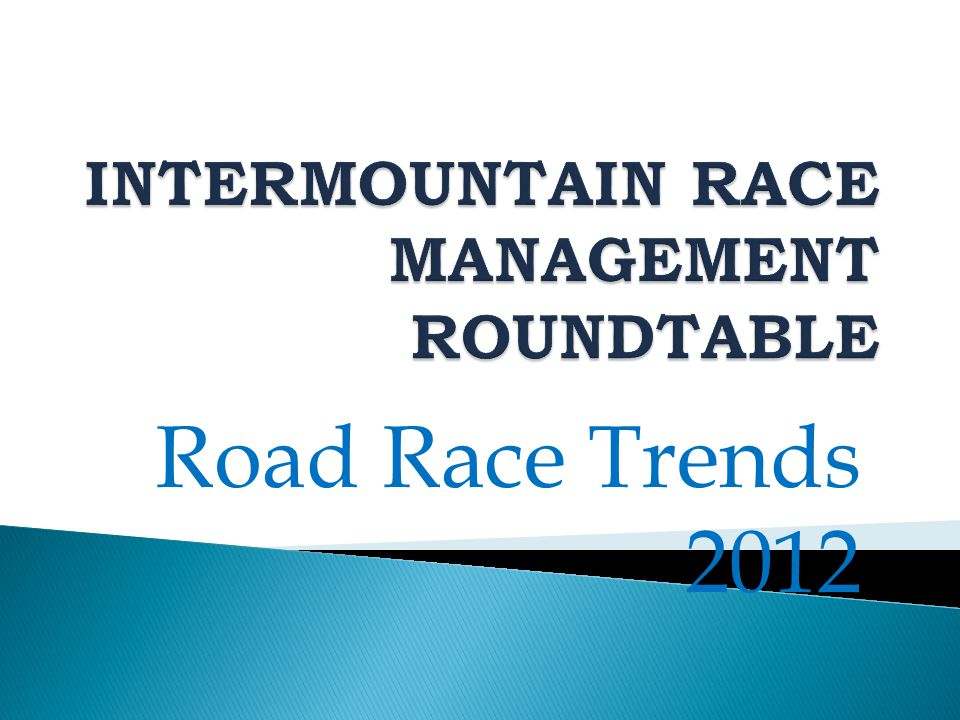 Road Race Trends 2012