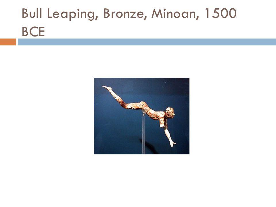 Bull Leaping, Bronze, Minoan, 1500 BCE