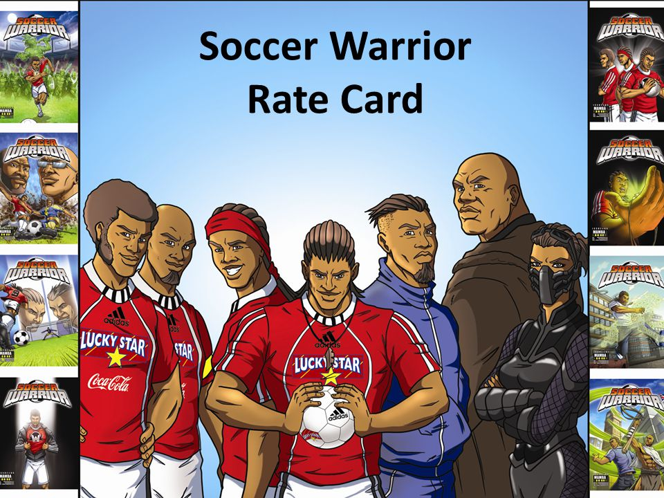 Soccer Warrior Rate Card