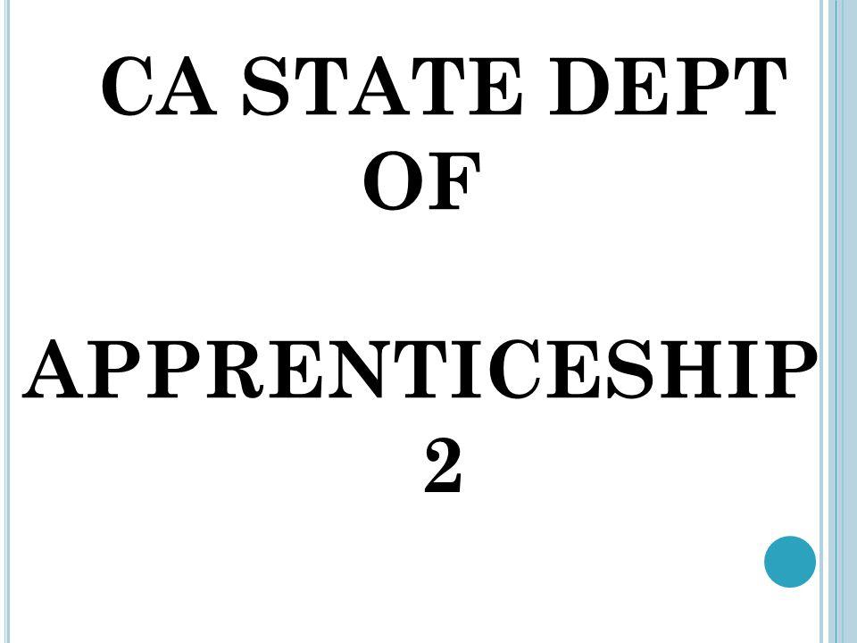 CA STATE DEPT OF APPRENTICESHIP 2