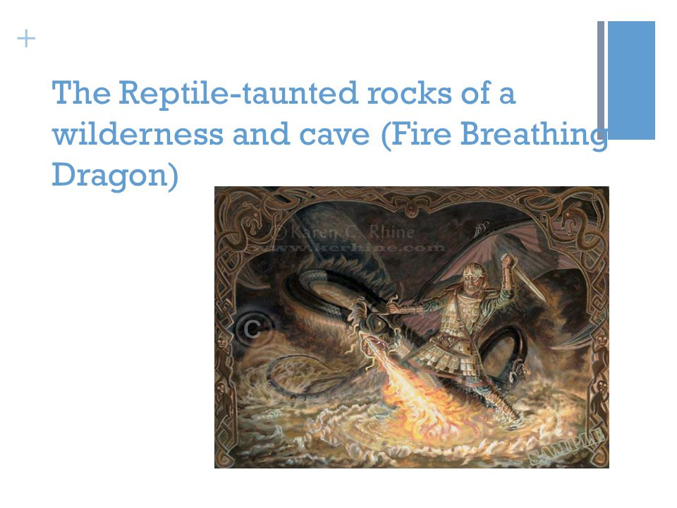 + The Reptile-taunted rocks of a wilderness and cave (Fire Breathing Dragon)