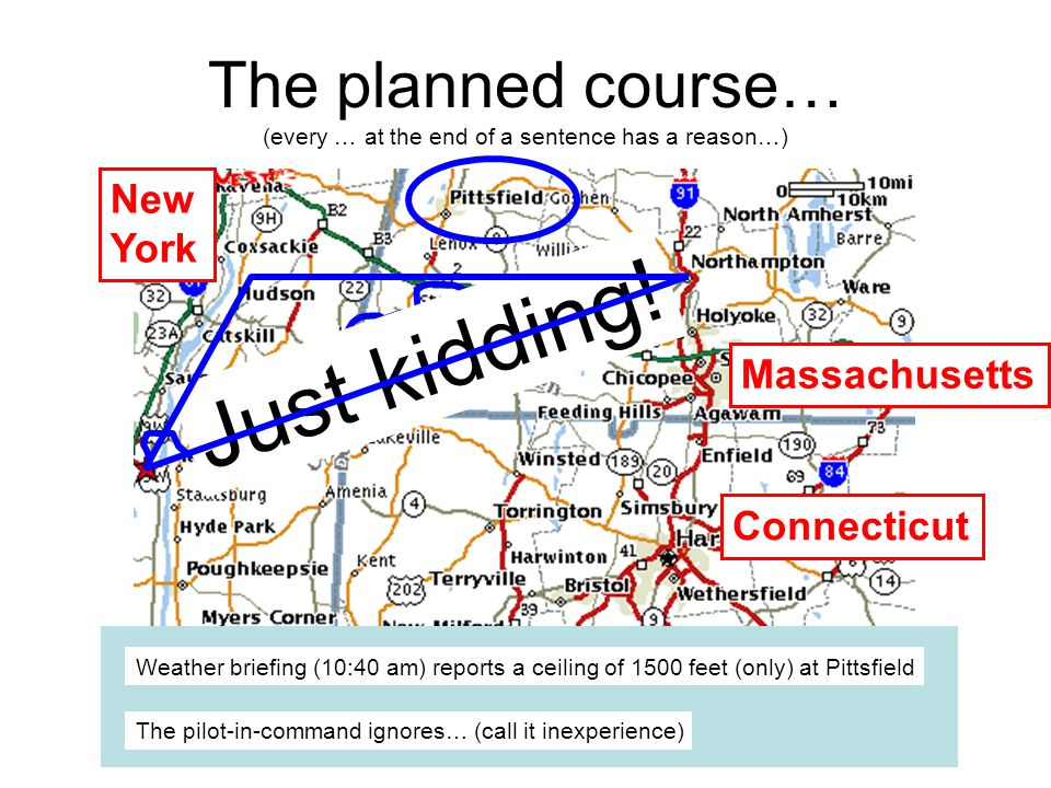 The planned course… (every … at the end of a sentence has a reason…) J u s t k i d d i n g .