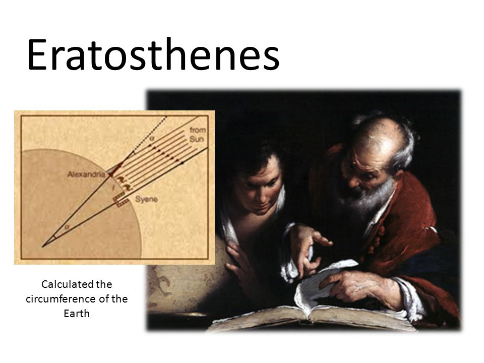 Eratosthenes Calculated the circumference of the Earth