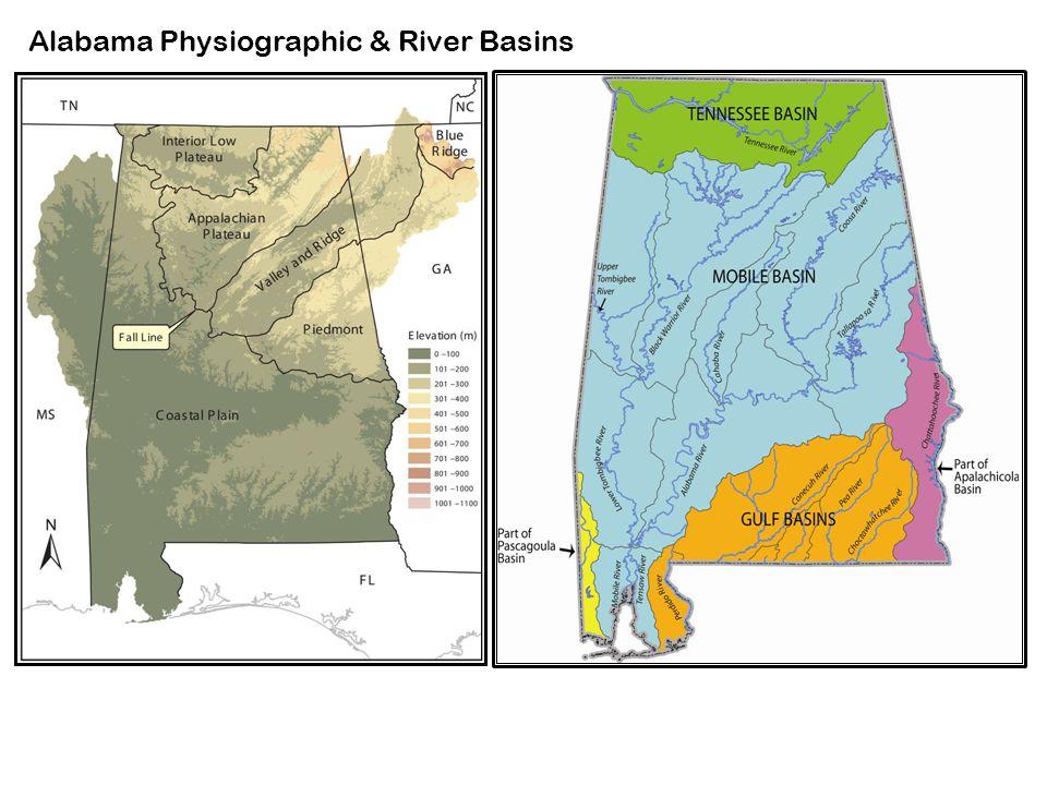 Alabama Physiographic & River Basins