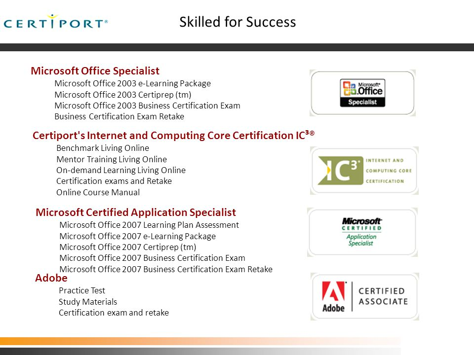 Increases Salary Potential  Research shows 82% of certified Microsoft Office Specialists report a salary increase after certification.