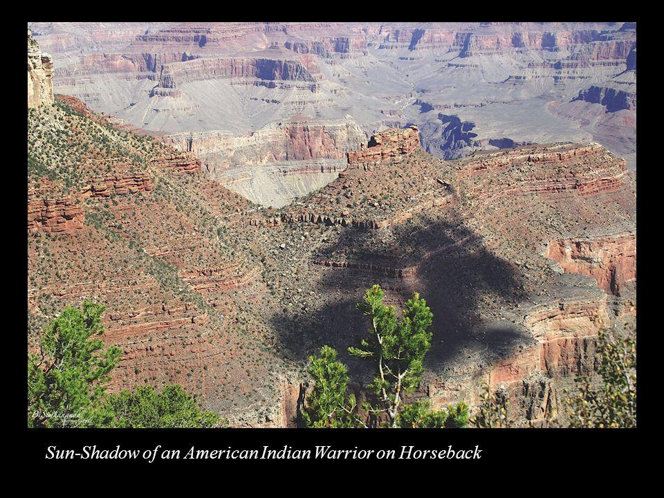 Sun-Shadow of an American Indian Warrior on Horseback