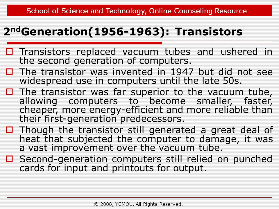 School of Science and Technology, Online Counseling Resource… © 2008, YCMOU.