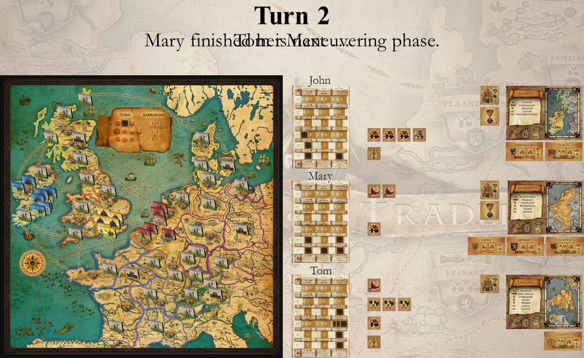 Turn 2 John Mary Tom Mary finished her Maneuvering phase. Tom is next …