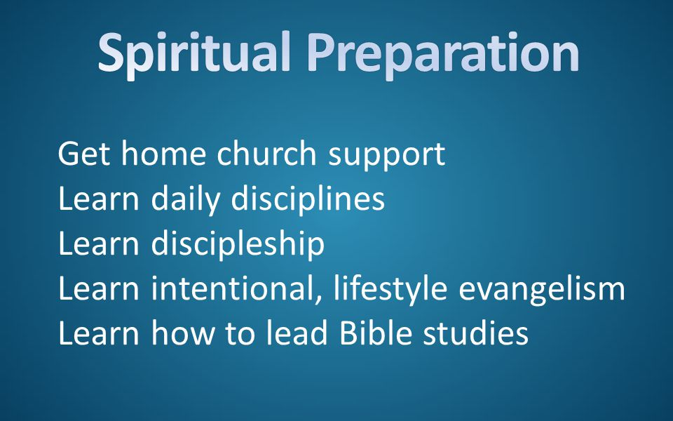 Get home church support Learn daily disciplines Learn discipleship Learn intentional, lifestyle evangelism Learn how to lead Bible studies