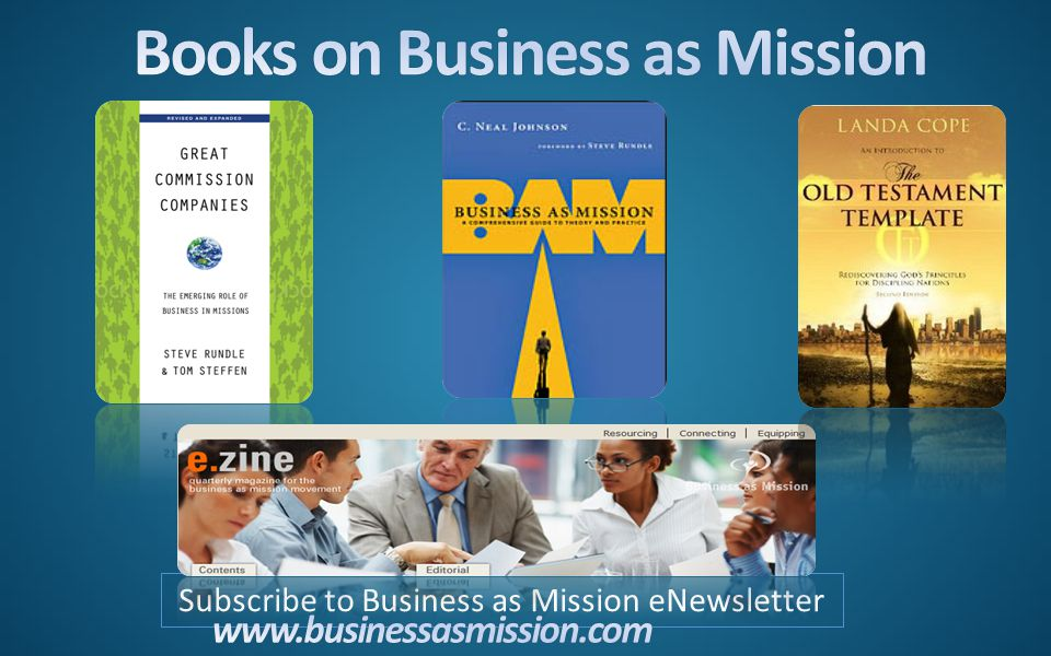 Subscribe to Business as Mission eNewsletter